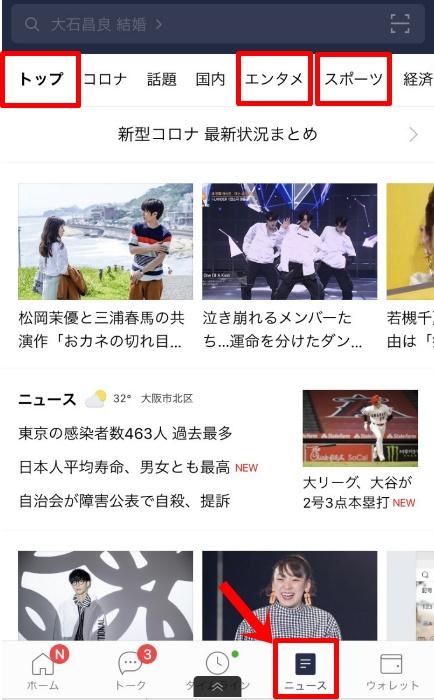 トレンドブログのネタ元(LINEニュース)