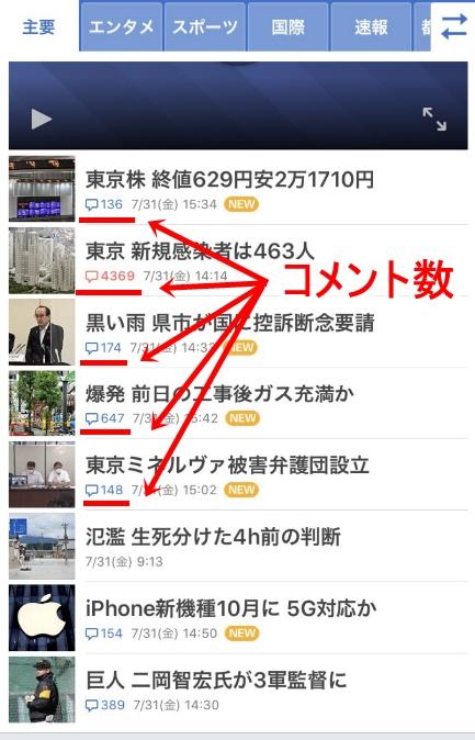 トレンドブログのネタ元(Yahooニュース②)