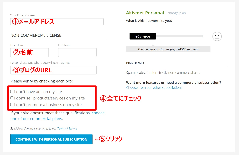 Akismet Anti-Spamの設定方法5